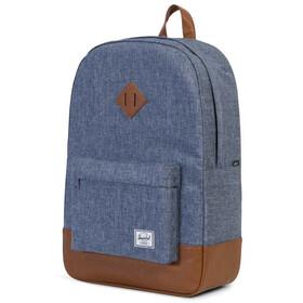 Herschel Heritage Backpack Unisex, dark chambray crosshatch/tan